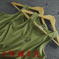 100% cotton military male fitness undershirt vest training vest loose plus size plus size vest