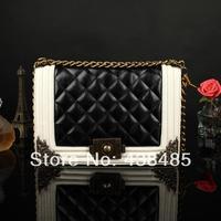 New 2014 Plaid Designer Famous Brand 100% Real Genuine Leather Women Shoulder Bag Vintage Women Messenger Bag Quilt Chain Bag