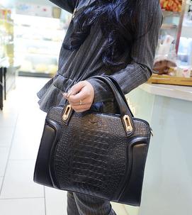 Fashion 2014 women's fashion crocodile pattern handbag portable monopack shoulder cross-body bag(China (Mainland))