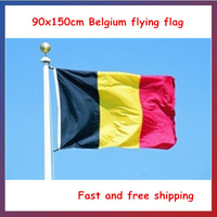 Hot-sale! 90*150cm Hanging Belgium flag National Flag Office/Activity/parade/Festival/worldcup/Home Decoration 2014 New fashion