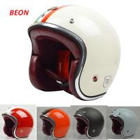 free shipping new casco capacetes 2014 beon man women motorycle helmet 3/4 open face vintage jet helmet motorcycling helmets
