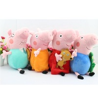 Retail  4pcs/set  30CM  Peppa pig plush Peppa and George Diddy AND Mon  Ballerina Peppa and Pirate Geogre