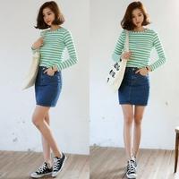 2014 Summer New In Women's Denim Skirts Fashion Casual Tight Hip Slim Waist All Match Female Shorts Skirts