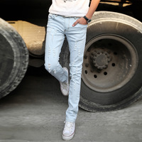 spring slim hole pants male vintage skinny jeans pencil men new style pair of teenager a timid and conservative summer-time