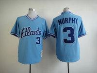 Mlb jersey braves 3 murphy throwback baseball jerseys m & n