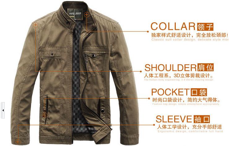 2014 new winter jacket models afs jeep / Battlefield jacket men washing men cotton coat casual Fashion men jacket fit(China (Mainland))