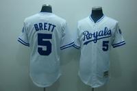 Mlb baseball jerseys kansas city royals brett 5 royal baseball uniform clothing