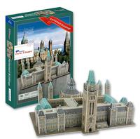 DIY Famous Building 3D Puzzle Toys Colorful Print Canadian Capitol Jigsaw 162 Pc's Set