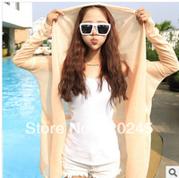 Promotional Summer Beach suits candy colors sun screen shirts Lace long-sleeved air conditioning jackets,free shipping