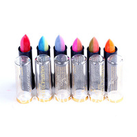 Lipsticks High Quality Branded Lip Stain The Balm Makeup 6PCS 6colors Matte Magic Colour Temperature Change Color Lipstick H118