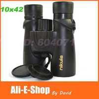NEW Original Waterproof nikula 10x42 binoculars HD Green FMC View 105/1000m with Night Vision binocular telescope Free Shipping