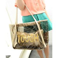 2014 New Summer Transparent bags Beach Bag One Shoulder Handsbags for Women