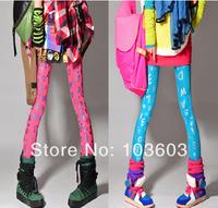Fashion Vintage Painting Graffiti Colored Letters Leggings Printing Slim Stretch Pants Harajuku Style Hip-hop Women Apparel