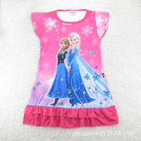 New Frozen Nightgown Pajamas Princess Girls Cotton Sleepwear Clothing Sets Elsa And Anna Pyjamas Sets Clothes Wholsale DA189