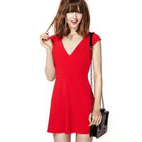 2014 new sexy Richcoco normic fashionable casual fashion sexy slim V-neck d330 short-sleeve dress