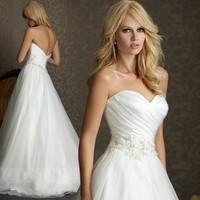 Luxury Professional Wedding Dresses Custom-Made 2014 Sexy Elegant Bride Lace Sweet Heart Vintage Wedding Dress Free Shipping