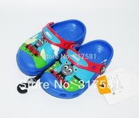 Children's summer sandals ,  cartoon Thomas the train boy's cartoon casual slippers  hole shoes