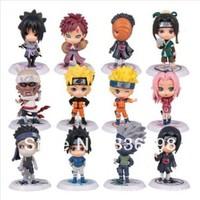 New Anime Naruto Figure Toy 12pcs PVC Anime Naruto Action Figure Shikamaru, Kakashi, Sasuke Model Toy for collection