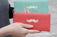 2014 brand women wallet High quality leather mustache wallet girl fashion purse women clutch wallets lady coin purse card holder