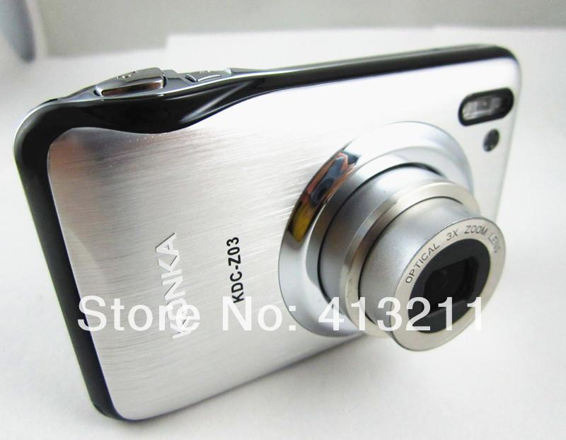 16Mega Pixel Digital camera 3X Optical zoom 2.7'' preview Screen rechargable battery AC Charger CCD sensor camera Free gift(China (Mainland))