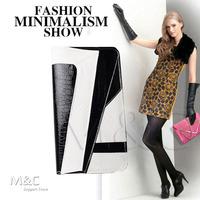 2014 women day clutches,  fashion Vintage Snake Print clutches, women's patchwork handbags, Snakeskin envelope bag SNB-010