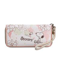 Snoopy cartoon SNOOPY women's casual zipper long design wallet cute dog cartoon long  wallet  Free shipping