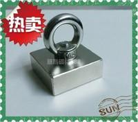 new f50*50*20mm, 50x50x20mm super powerful n50  ndfeb magnet neodymium magnets f50*50*20mm salvage steel ring free shipping