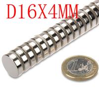 16*4  100pcs 16mm x 4mm disc powerful magnet craft neodymium  rare earth permanent strong n50 n52