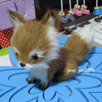 stuffed animal 16x12cm brown fox plush toy emulation doll k0163