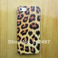 2014 new fashion leopard grain case for iphone 4/5 hard  leopard grain  case for iphone4s/5s hard case for Iphone