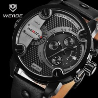 New WEIDE Watches Men Luxury Brand Japan Quartz Movement 3ATM Waterproof Analog Leather Strap Watches Clock Men Fashion Style