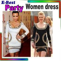New 2014 fashion women dress plus size europen vintage women Deep O neck Printed sheath shift pencil Party Dresses celebrity