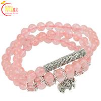 Rope watermelon red malay jade bracelet thai silver multi-circle multi-layer jewelry bracelet female