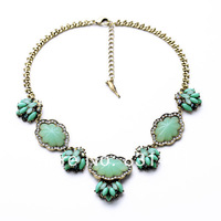 Vintage Bronze Brand Name Mint Flora Choker Necklace 2014 In New Free Shipping