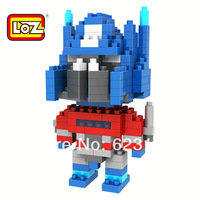 Creative LOZ diamond particles building blocks Deformation of children's intelligence development toy robot