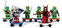 6 Sets Minifigures Teenage Mutant Ninjago Ninja Turtles Building Toys Souptoys