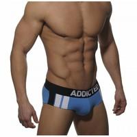Hot Sell Mens Underwear Briefs #ADD023 Men's Brief Sexy 2014 Cotton  ADDICTED BRIEFS POUCH UNDERWEARS SKY BLUE SIZE L