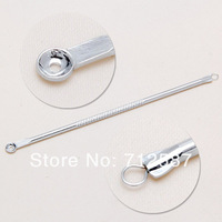 2pcs Pro Silver Blackhead Comedone Remover Acne Blemish Pimple Extractor Tool