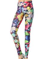 Wholesale Sexy Women's Classic Patterned Leggings Digital Print Pants Leggins Free Shipping