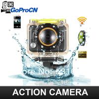 1080P Full HD Sports Camera go pro 3 Ambarella G8800 H.264 5M pixel with WIFI control by phone watch waterproof Vs go pro hero 3