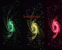 Diy оптическое волокно свет комплект свтеодиодный фонарик коробка + 300 шт. x 3 м оптические волокна гамма изменение цвета беспроводной радиочастотный пульт дистанционного красочные звезда верхнего света