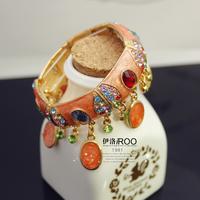 Lo yin Multi-colored drops of oil bracelet fashion hand ring bracelet fashion bracelet wide bracelet fashion accessories