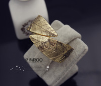 Lo yin Vintage leaves bracelet brief 2 bracelet fashion alloy elomins iroo silvering gilding