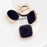 Lo yin Cloth button stud earring personalized stud earring fashion earring female accessories earrings
