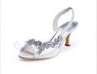 wholesale free shipping  MZ632 summer princess shoes rhinestone white high-heeled sandals