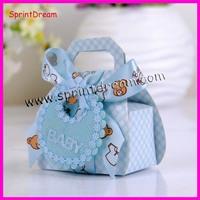 (60pcs/lot) Baby Bear wedding Favor Box With Ribbon Bow and Tag