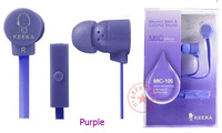 MIC-106 In-ear earphones, 3 colors, stereophonic, High-quality, Cute Style, With Volume,  With Package, Free shipping