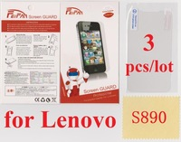 3 pcs/lot Anti Scratch Anti Glare Wholesale HD Transparent Clear Screen Protector for Lenovo S890 LCD