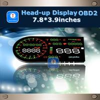 New Arrival Large Screen OBD2 Car HUD Head up Display Digital Tachometer Temperature Automotive Trip Computer Fuel Meter