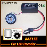 Promotion!!! Free Shipping Auto Car Accessries Car LED Decoder LED Eliminations Car Lamp BAZ15S LED Decoder